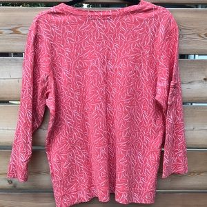 fresh produce Tops - Fresh Produce | coral pattern 3/4 top made in USA